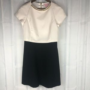 Ted baker gold collar classic chic dress